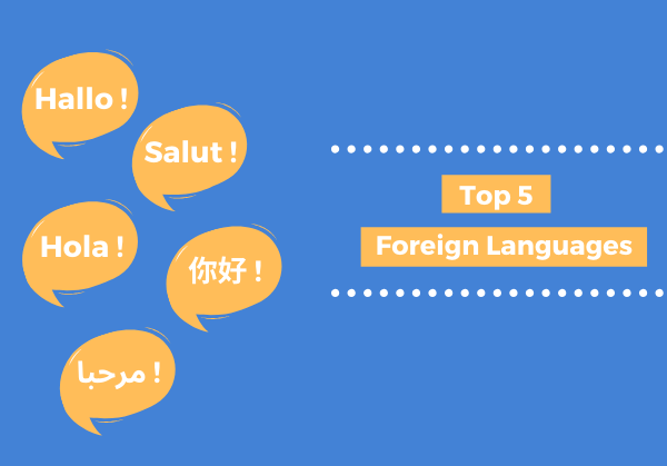 Top 5 foreign languages